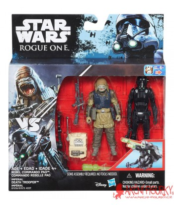 Star Wars Rebel Commando Pao vs. Imperial Death Trooper Rogue One 10 cm