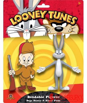 Looney Tunes ohýbatelné figurkay2-balení Bugs Bunny & Elmer Fudd 15 cm