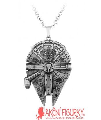 Star Wars Sokolík kovový náhrdelník stříbrné provedení