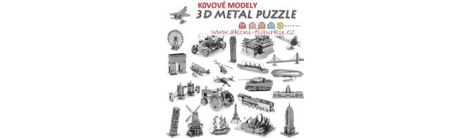 Kovové 3D puzzle modely